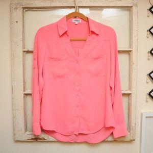 Express Coral Portofino Shirt